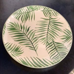 NEW! Palm leaf side plate